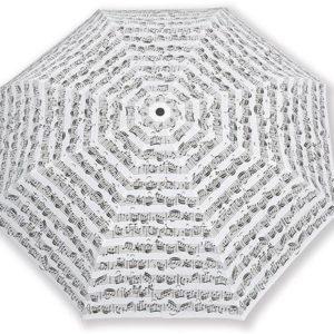 Biely skladací dáždnik s notami