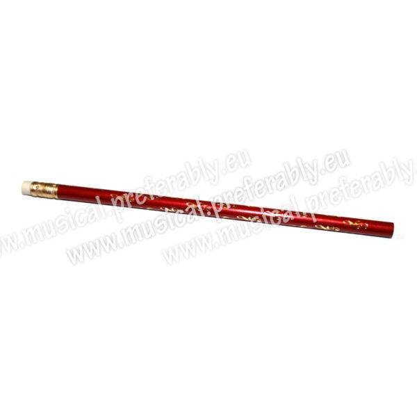 Ceruzka s husľovým kľúčom – červená
