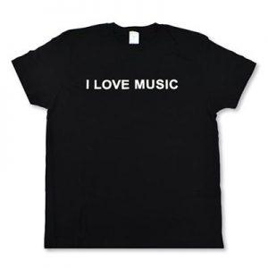 Tričko I LOVE MUSIC čierne L